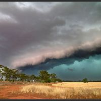 A severe storm approaches Nyngan, NSW  www.ozthunder.com, Батурст