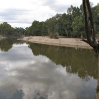 Sand banks after the floods, Wagga Wagga, Вагга-Вагга
