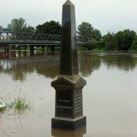Lismore floods Jan 08 - looking south-west towards Ballina St bridge, Лисмор