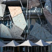 Federation square - Architects:  Don Bates and Peter Davidson of Lab Architecture Studio, Мельбурн