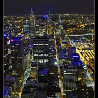 Night Melbourne from Observation Desk, Мельбурн