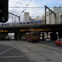 Tram & Train on Spencer Street (Mar 4, 2007), Мельбурн