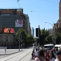 corner of Flinders and Swanston, Мельбурн