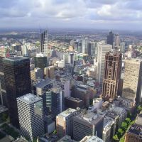 Melbourne - View from Rialto Tower, Мельбурн