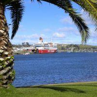 Spirit of Tasmania I at her berth, East Devonport, Девонпорт