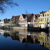 Bruges, Belgium. Langerei str., Брюгге