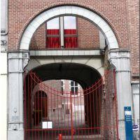 Rue de Nimy, entrée du Conservatoire Royal de Musique, Монс
