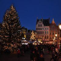 Antwerpen, Grote Markt (Evening), Антверпен