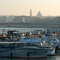 La Meuse , le port des Yachts, Льеж