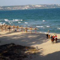 Albena - riders on the beach, Албена