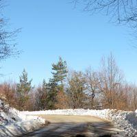 Пейзажна фотография на път за местността Узана, Михайловград