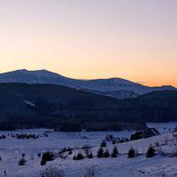 Balkan massif Triglav and Uzana at dusk, Михайловград