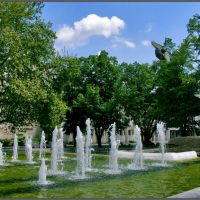 Haskovo - fountain, Хасково