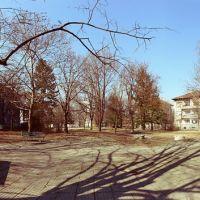 Парк с пейки / Park with benches, Димитровград