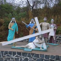 via sacra, subida morro o cristo, corumbá ms, Brasil, Корумба