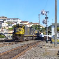 Trem parado na estação de Barbacena, Барбасена
