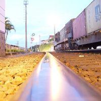 Trem na estação de Barbacena, Барбасена