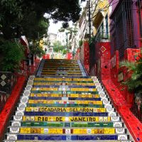 Santa Teresa stairs - Escadaria Selaron, Масау