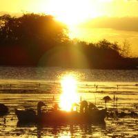 Pôr-do-sol , Açudes do sertão.(Northeastern - Brazil), Моссору