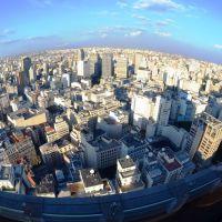 Visão em grande angular a partir do Terraço do Edifício Itália - São Paulo - SP - Brasil, Арараквира