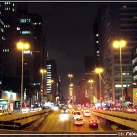 Avenida  Paulista (noite) -  Foto: Fábio Barros (www.facebook.com/Cidade3d), Барретос