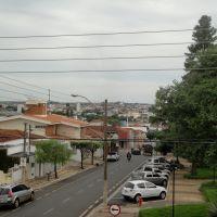 Rua Santa Catarina vista do Prédio do Castelinho, hoje Pinacoteca de Catanduva, Катандува