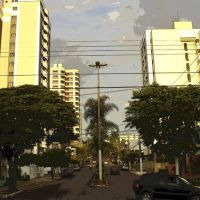 vista parcial av. Rio Branco, Марилия