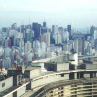 São Paulo (desde o Edifício Itália), Brasil., Сантос