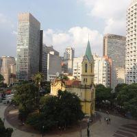 Mãe Preta e Igreja Nossa Senhora do Rosário no Largo do Paiçandú - São Paulo - SP - Brasil, Сантос