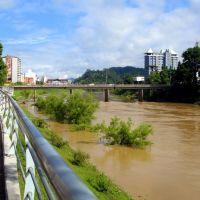 Rio Itajaí Açu, Blumenau, Блуменау