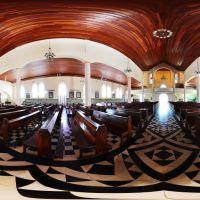 Panorâmica 360º da Igreja Sagrado Coração de Jesus, Joinvile, Santa Catarina, Brasil, Жоинвиле