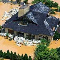 BRASIL Santa Catarina foz do rio ITAJAÍ onde rebanho procura abrigo 27nov2008, Итажаи
