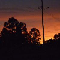 Por do sol visto do clube dos bombeiros lages sc,Brasil, Лахес