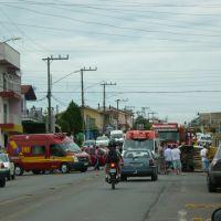 acidente na sete com caldas junior, lages sc brasil., Тубарао