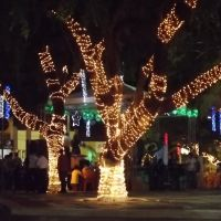Paça da Matriz , Natal de Luz , dezembro de 2011., Игуату