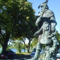 Snake River Trapper statue in Idaho Falls, Айдахо-Фоллс