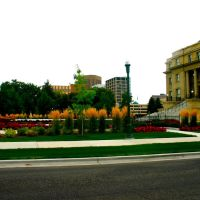 Garden around the State Capitol Building, Boise, Idaho, Бойсе