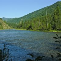 North Fork Clearwater River just upstream from Cub Creek, Монтпелье