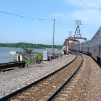 California Zephyr runs over Mississipi, Барлингтон