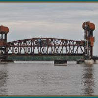 Burlington BNSF Rail bridge Iowa, Барлингтон