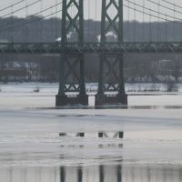 Memorial Bridge, Moline, IL & Bettendorf, IA - Mighty Mississip, Беттендорф