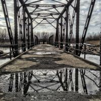 View of Deck on Greencastle Avenue Through Truss Bridge, Гилбертвилл