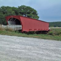 Hogback Bridge, Madison County Iowa by Joe Recer, Гринфилд