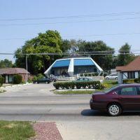 """""""Googie"""" building, Des Moines, Iowa, Гринфилд"""