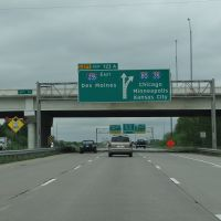 US 80 near Des Moines, IA, Клайв