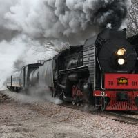 COMING INTO BOONVILLE,IA IS THE STEAM SPECIAL ON 11-13-10.JPG, Коридон