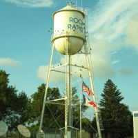 Rock Rapids, Iowa, water tower with vultures, Лайон