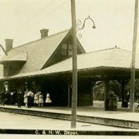 Onawa, Iowa Train Depot early 1900s, Онава
