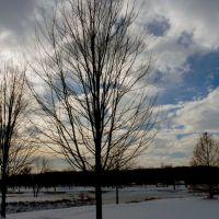 Iowa City December sky, Ред-Оак