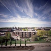 Pinhole Iowa City View from Old Capitol (2011/OCT), Ред-Оак